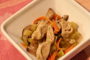 Tofu Skin Rolls in a Salad