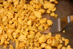 curry-roasted and golden cauliflower
