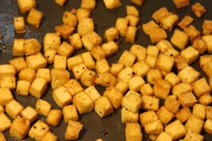 curry-tofu cubes, instead of chicken